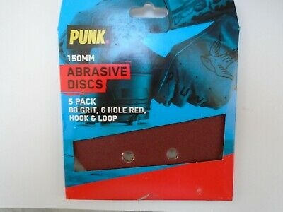 PUNK 150mm Abrasive Discs 5 Pack.