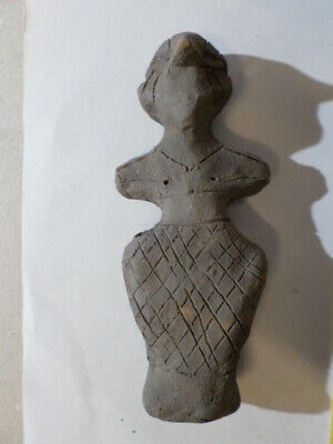 Superb ancient Neolithic Vinca clay idol 5000 B.C.