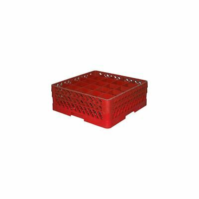 Traex TR6BB-02 Red 25 Compartment Glass Rack with 2 Extenders