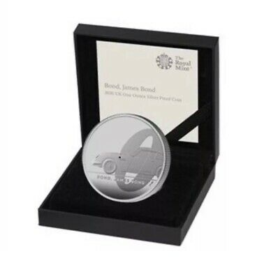 2020 Royal Mint James Bond 007 £2 One Ounce Silver Proof Coin COA TO PREORDER.