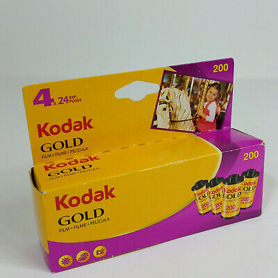 4 Rolls Unopened Packages KODAK 35mm Gold IDO 200 Film 24 Exposure Exp 3/2014