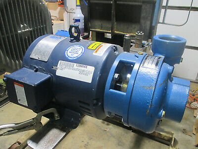 Scot-Atl cast iron centrifugal pump Model # 18BF 2.5 x 2 with Leeson 5 hp motor