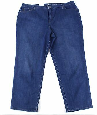 Style & Co. Womens Jeans Blue 24W Plus Straight Tummy Control Stretch $59 364