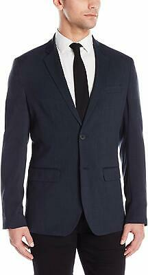 Reaction Kenneth Cole Mens Blazer Blue Size Small S Notch-Collar $119 646