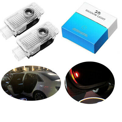 Car Door Logo Lights LED Shadow Projector Ghost Courtesy Welcome light for A4 A8