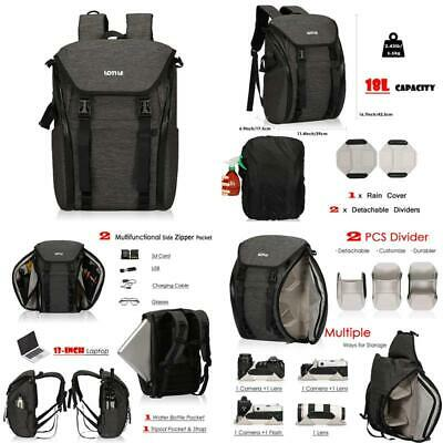 LOTILE Camera Sling Bag Lens Shoulder Case with Customizable Dividers for Canon Nikon Sony Pentax Black