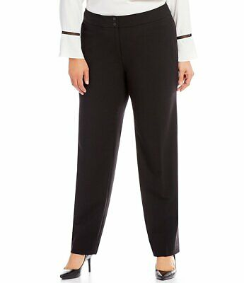 Calvin Klein Womens Pants Black 18W Plus Dress Straight Leg Stretch $99- 024