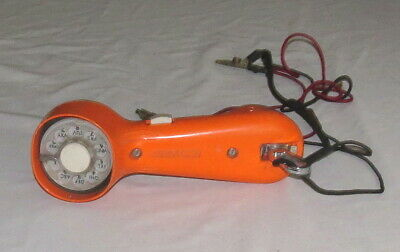 GTE Automatic Electric Vintage Rotary Dial Linesman Orange Handset Butt Set