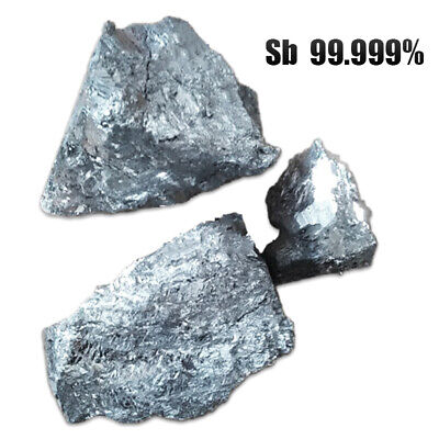 100g Antimony Sb Metal Lumps Block for Lab/Industry Addition Agent 99.99% Purity
