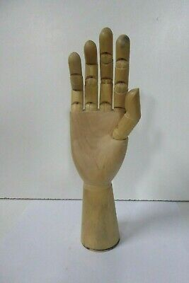 Vintage Wooden Artist Drawing Model Hand Articulated Fingers Statue