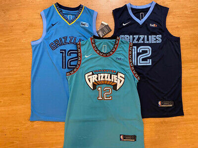 Ja Morant 12 Memphis Grizzlies Throwback TEAL / STATEMENT / NAVY Swingman Jersey