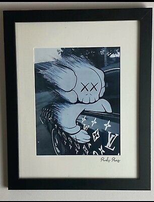 Art Poster 24x36 27x40 Kanye West Bear Kaws Paws Custom 2017 Ablum T-743
