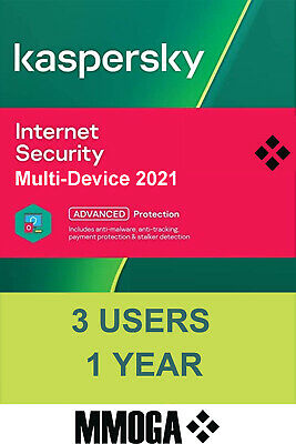 Kaspersky Internet Security 2020 (3user/1year) - 3 Appareil | 1 An - FR & UE