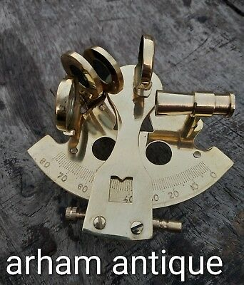 Nautical Solid Brass Sextant Marine Navigation Astrolabe Collectable Sextant G