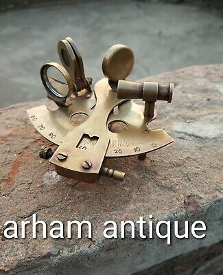 Nautical Solid Brass Marine Sextant Vintage Navigation Astrolabe Sextant Gift