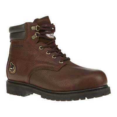 Georgia Boots Oiler 6in Steel  Casual   Work & Safety - Brown - Mens