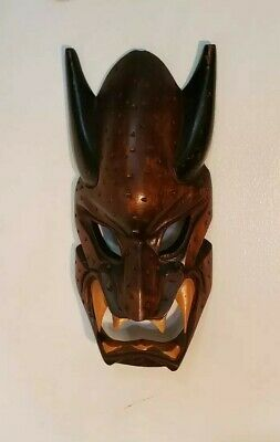 Epic Hand Carved Headhunters of Philippines Tribal Wood Devil Mask 12""
