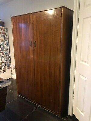 Teak Wardrobe Wood Double Vintage Retro Wood Future Antique Austinsuite Large