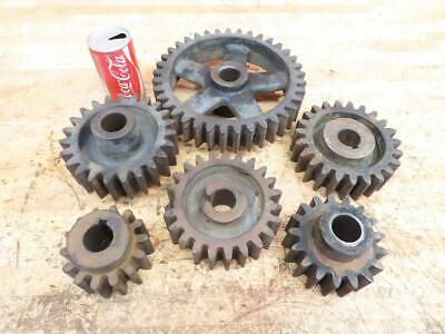 """Antique Cast Iron Industrial Machine Age Gears Cogs SteamPunk Art 4"""" to 10"""""""