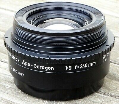 Rodenstock Apo-Gerogon 240mm f9 Lens - Superb Quality Optics - Very Nice!