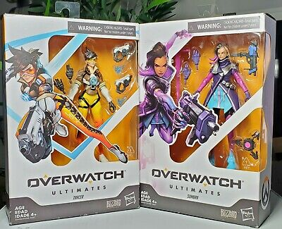 """Hasbro Overwatch Ultimates Series SOMBRA + TRACER  6"""" Collectible Action Figure"""