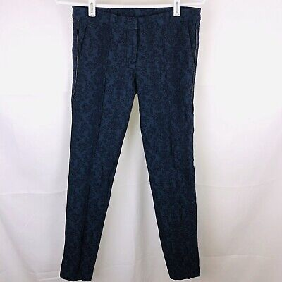 New KUT FROM THE KLOTH Women  Floral Blue skinny pants stretch skinny size 0 $89