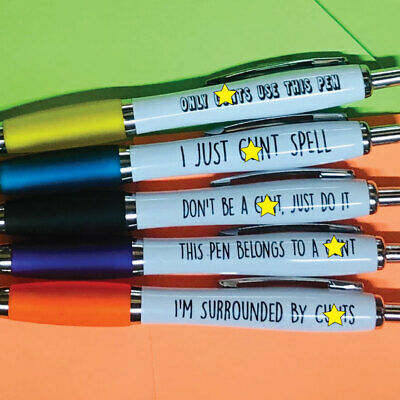 5 X RUDE Pens Rude Cheeky Novelty Stationary Secret Santa Sweary  C PACK