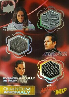 2018 Ant-Man & Wasp  Quantum Anomaly Triple Relic Card QMT9 Ghost, Ant-Man, Wasp
