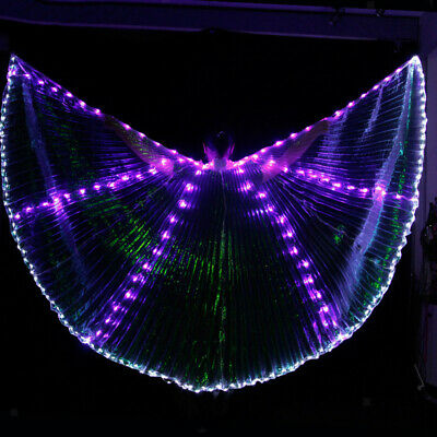 Egyptian LED Dance Wings with 2 Sticks 360° Dress Wings Dance Wear Costume Props