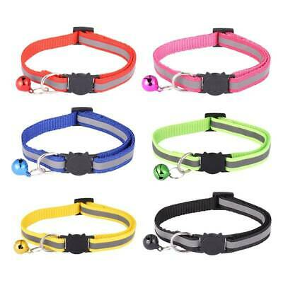 6/12 Pack Reflective Cat Collars with Bells Safety Release Collars Adjustable