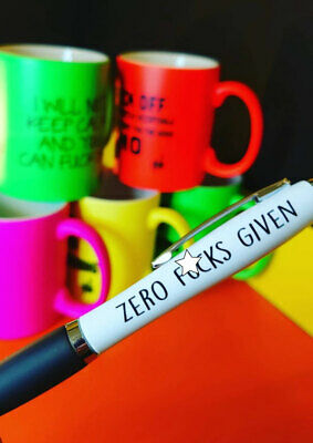 Funny Pens - Rude Cheeky Novelty Office Secret Santa  - Zero F*cks Given PEN37