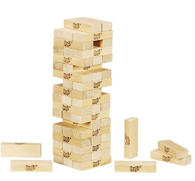 Classic Jenga Game With Genuine Hardwood Hasbro A2120 Ages 6