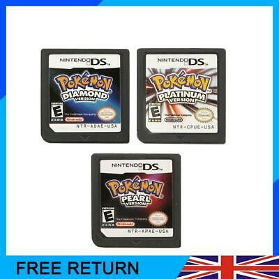 For Nintendo 3DS NDSI NDS Lite Game Card Pokemon Universal Platinum Pearl UK