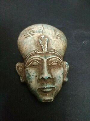 Rare Ancient Egyptian Antiquities head of God Ptah (4th to 3rd century BC)
