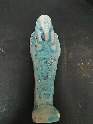 Rare Antique Ancient Egyptian Statue Ushabti Faience 16 cm 1531bc