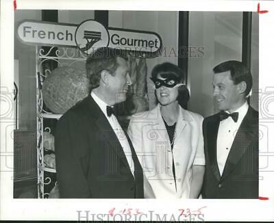 1985 Press Photo Houston's Auty School Masquerade fundraising event attendees