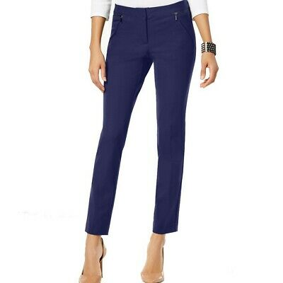 ALFANI NEW Women's Comfort Waist Slim Leg Zip-pocket Skinny Pants TEDO