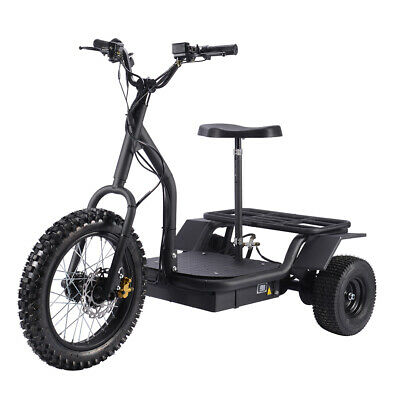 SAY YEAH Electric Scooter 1200W Adult Cargo Tricycle Power E-Bike Trike Black