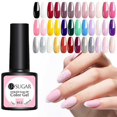 122 Colour UR SUGAR 7.5ml Gel Nail Polish Soak Off UV LED Nail Art Gel Varnish