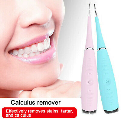 Tooth Stains Tool Dental Scaler Tartar Calculus Plaque Electric Sonic Remover UK