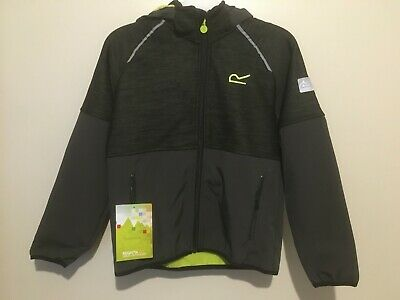 Regatta Kids Hydronic II Hooded Softshell Jacket 11-12 Years BNWT RRP £35.95 Ash