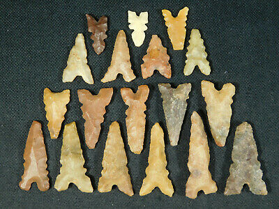 A Big Lot of Ancient North African Tidikelt Arrowheads or Points! 6.92