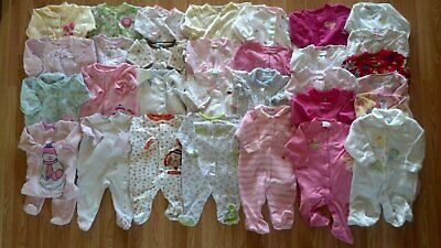 Lots of Girl's Size 6 M 3-6 Months One Piece Footed Pajama Sleeper Carters+ CUTE