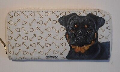 Brussels Griffon Petit Brabancon dog Wallet for Women Hand Painted