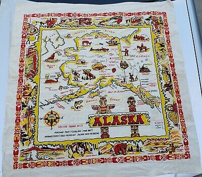 Fabric Souvenir Map of Alaska