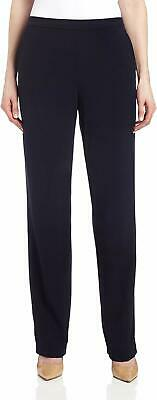 Briggs Womens Pants Black Size 12 Mid-Rise Pull On Straight Stretch $36- 848