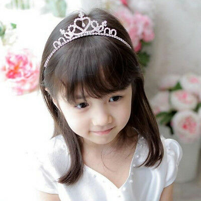 Headband Children's Crown Hairband Hair Bands Chic Gift Ornaments Rhinestone FM