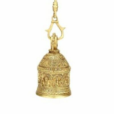 Handcrafted Hindu Religious Navgrah Idols & Figurines Carved Brass Hanging Bell