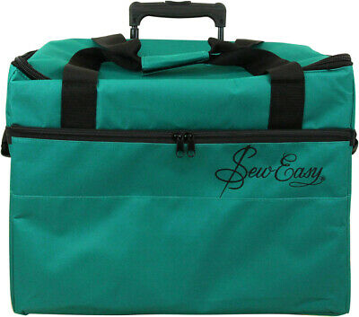 SEW EASY Tote - Craft Rolling Travel Trolley Teal - Sewing Bag Scrapbooking