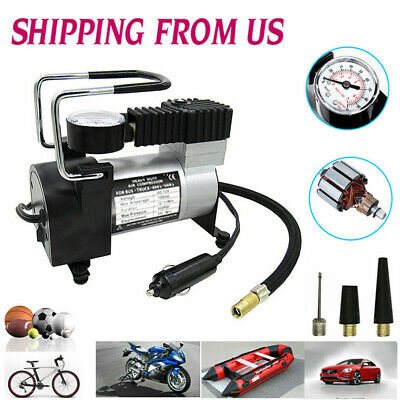 12V 150PSI Air Compressor Pump Portable Heavy Duty Car Tire Inflator Bike US